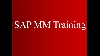 SAP MM Training - MRP1 (Video 9) | SAP MM Material Management