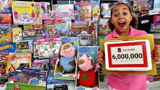 KIDS REACT! Toys AndMe Gives Toy Haul To Kids Charity - Surprise Presents For Kids | 6M SUBSCRIBERS!