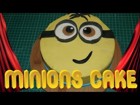 MINIONS TORTE Minions Cake Motivtorte Kuchen backen Torten dekorieren mit Fondant