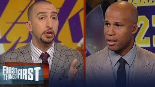 Richard Jefferson: Magic and Kobe contradict themselves about LeBron | NBA | FIRST THINGS FIRST