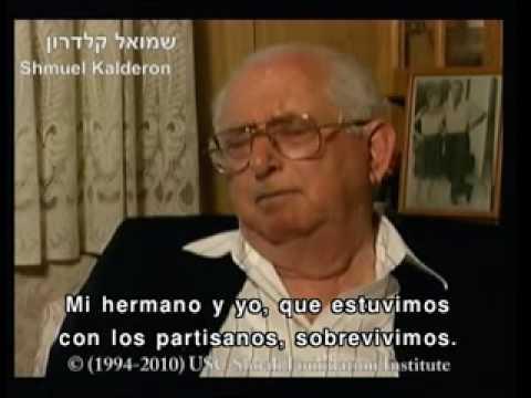 Shmuel Kalderon y Stella Testa sobrevivientes del Holocausto de Monastir, Macedonia