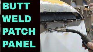 DIY Butt weld a patch panel 20 gauge thin sheet metal