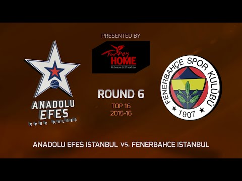 Highlights: Top 16, Round 6, Anadolu Efes Istanbul 73-77 Fenerbahce Istanbul