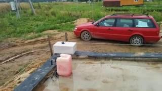 Первый ряд газоблока на фундамент своими руками.