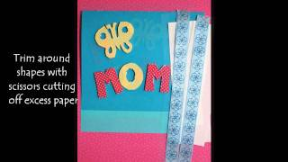 Homemade Mothers Butterfly Card