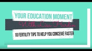 10 Fertility Tips To Help You Conceive Faster