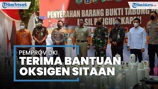 Polda Metro Jaya Serahkan Tabung Oksigen Sitaan ke Pemprov DKI Jakarta, Anies: Patut Diapresiasi