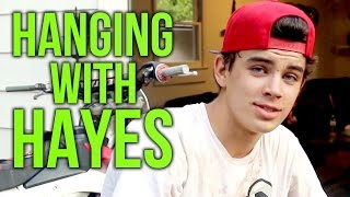 Hayes Grier On Set With Skylynn