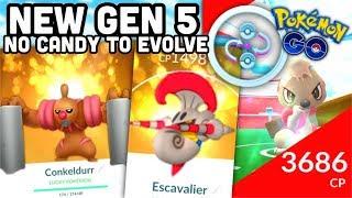 Gurdurr  - (Pokémon) - CONKELDURR + NEW GEN 5 IN POKEMON GO | NO CANDY TO EVOLVE