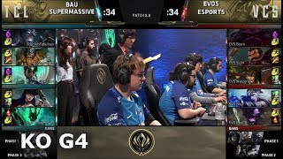 EVOS Esports vs SuperMassive | Game 4 Knockout LoL MSI 2018 Play-In Finals | EVS vs SUP G4