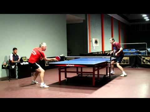 tennis tavolo ping pong Mauro Sanguineti vs Maurizio Mazzoni 1 set 08 10 2011