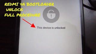 Xiaomi redmi 4a Unlock Bootloader