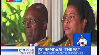 Chief Justice David Maraga and his deputy Philomena Mwilu facing fresh removal threats