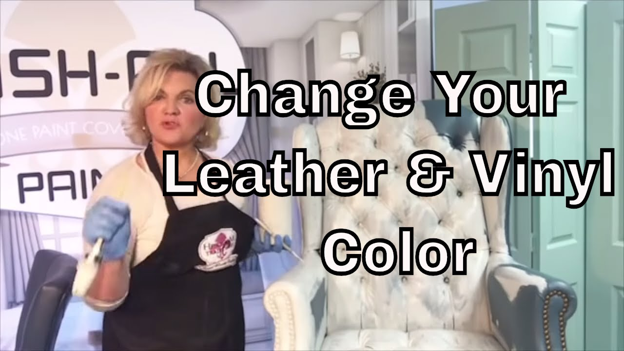 Painting your Leather Chair, Change the color of Leather & Vinyls using ALL-IN-ONE Paint!