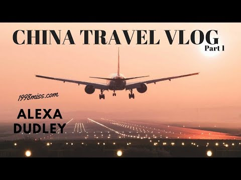 China Travel Vlog Part 1 | Flying on the Airplane + Arriving in Beijing