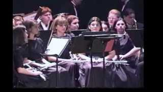 Woonsocket High School Band, Spring 1996, Navy Hymn, Diversions, English Folk Song Suite