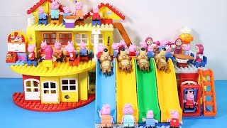 Peppa Pig House Creations With Water Slide Toys - Lego House Toys For Kids #9
