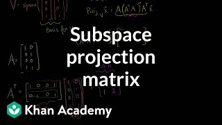 Linear Algebra: Subspace Projection Matrix Example