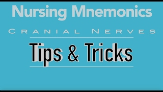 View the video Nursing Mnemonics: Cranial Nerves Tips & Tricks
