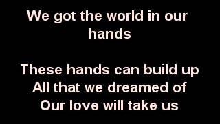 World in our hands karaoke - Taio Cruz