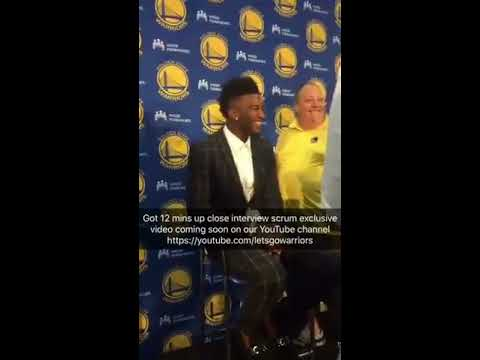 Snapchat Story from Jordan Bell, Golden State Warriors 2017 NBA Draft pick introduction