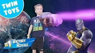 Nerf War:  Avengers Infinity Gauntlet Fortnite Battle Royale In Real Life