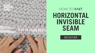 How to Knit: Horizontal Invisible Seam