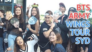 BTS Army and SBS PopAsia at BTS Wings Tour Sydney