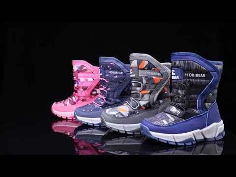 Hobibear Kids Grey Waterproof Winter Boots AW7089