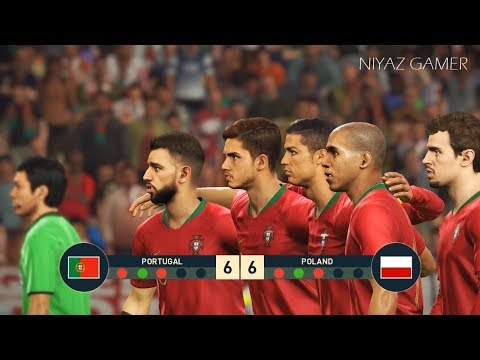 PORTUGAL vs POLAND | Penalty Shootout | PES 2019 Gameplay PC