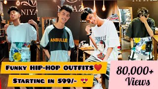 FUNKY HIPHOP OUTFITS IN 599/-😍 | BEST FOR HIPHOP ARTISTS | PRATIKSH VLOGS