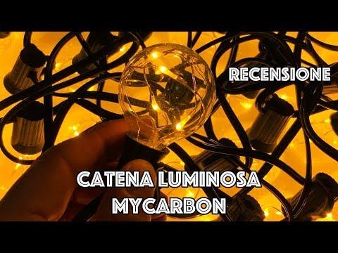 Recensione catena luminosa MyCarbon (8 m.) : Ideale per interno, esterno e albero di Natale!