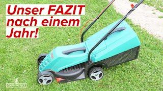 Bosch Elektromäher Rotak 32 - FAZIT nach einem Jahr!