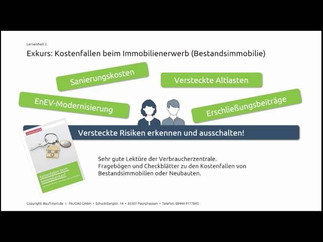 Das Folgende Video Gibt Ihnen Einen Kurzen Einblick über Meinen Baufi Kurs Hier Finden Sie Auch Checklisten Zum Immobilienerwerb Und Kauf Einer