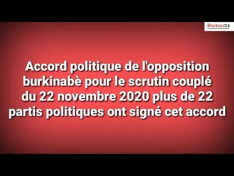 L'opposition burkinabè signe un accord pour les élections couplées de novembre