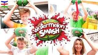 Watermelon Smash 🍉💥 Crazy Challenge  DEUTSCH 😁 TipTapTube Family 👨👩👦👦