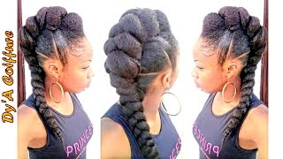 DIY ★ Mohawk / Faux Hawk Style With A Jumbo Braid - By DyA