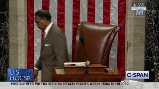 Watch: House floors erupts into chaos after Pelosi's remarks