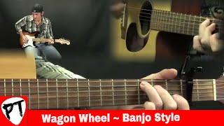 How To Play Wagon Wheel - Guitar Lesson - guitjo - banjitar