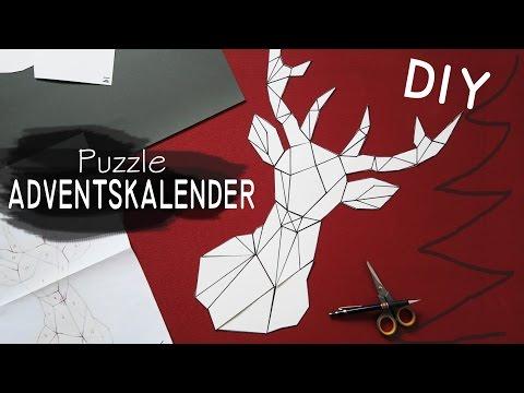 DIY Puzzle Adventskalender - geometrischer Hirsch
