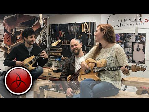 Matt Cremona & April Wilkerson Build their 1st Guitars at The Crimson Guitar Making School