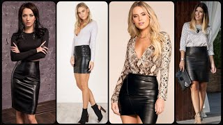 Leather Skirts Outfits/Leather Skirts And Dresses/leather Tit Mini Skirts For Womens & Girls