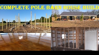 TIMELAPES - How To Build A Pole Barn House