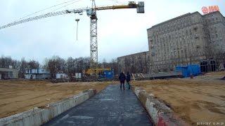 На месте строительства вестибюля N2 станции метро Парк Победы