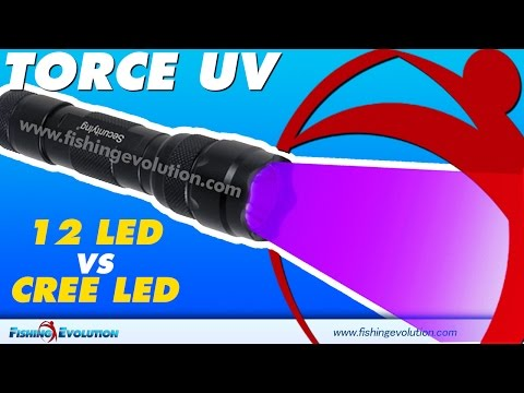 Torcia 12 Led UV vs Torcia Cree Led UV Guarda che differenza !