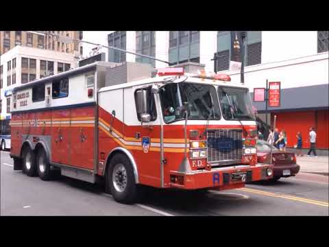"THE VERY BEST OF THE ""OUTSTANDING"" MAJESTIC FDNY RESCUE 1 RESPONDING ON STREETS OF MANHATTAN. Mp3"