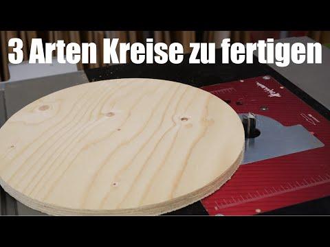 3 Methoden Kreise aus Holz zu sägen/fräsen |  Einfach. Schnell. Sauber! | Lets Bastel