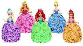 Disney Princess Bubble Foam Dress Making   Creative Fun with Frozen Elsa Ariel Cinderella Aurora