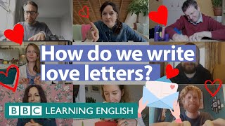 Our Valentine's Day video – How to write a love letter