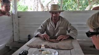 Cuban Tobacco Farmer Shows How He Rolls A Cigar